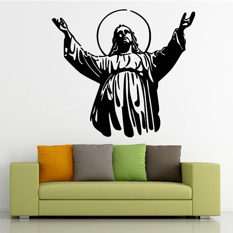 2015 New Design Christian Character Jesus Wall Stickers Jesus Decor Stickers Sitting Room The