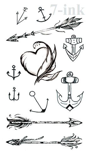 74672e840 Waterproof Temporary Tattoo sticker black anchor arrow tattoo Water  Transfer fake flash tattoo 10.5*6 cm for woman man-in Temporary Tattoos  from Beauty ...