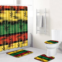 S 3D Printing Maple Leaf Bathroom Mats 180*180cm Shower Curtain Best Selling 2019 Products 4pcs Bath Mat Sets Home Decoration|Bath Mats|   -