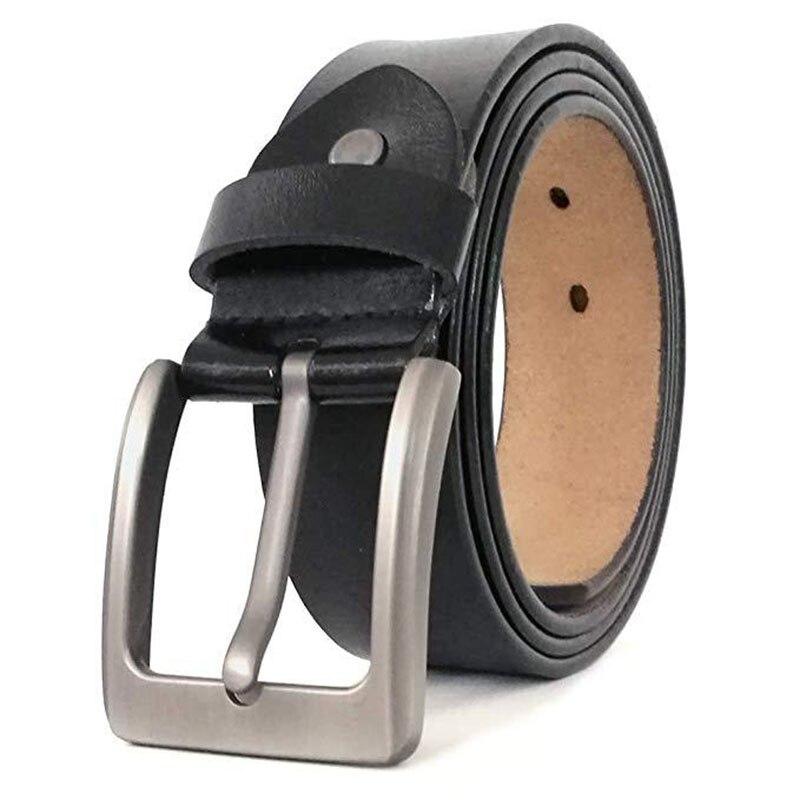 160cm 170cm Large Size Male Genuine Leather Belts Fashion Pin Buckle Belt For Men Luxury Brand Belts For Men's Jeans Designer