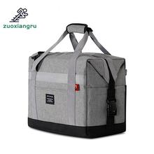 Outdoor Picnic Bag Cooler Oxford Cloth Double-deck Waterproof Takeout Aluminum Foil Insulation Lunch Cold Box Bags