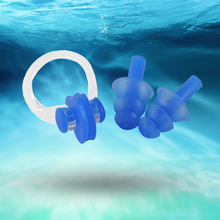 2016 Soft Swim waterproof Silicone Earplug nose clip set Surf Swimming Pool Accessories Waterproof adult diving Soft Earplugs
