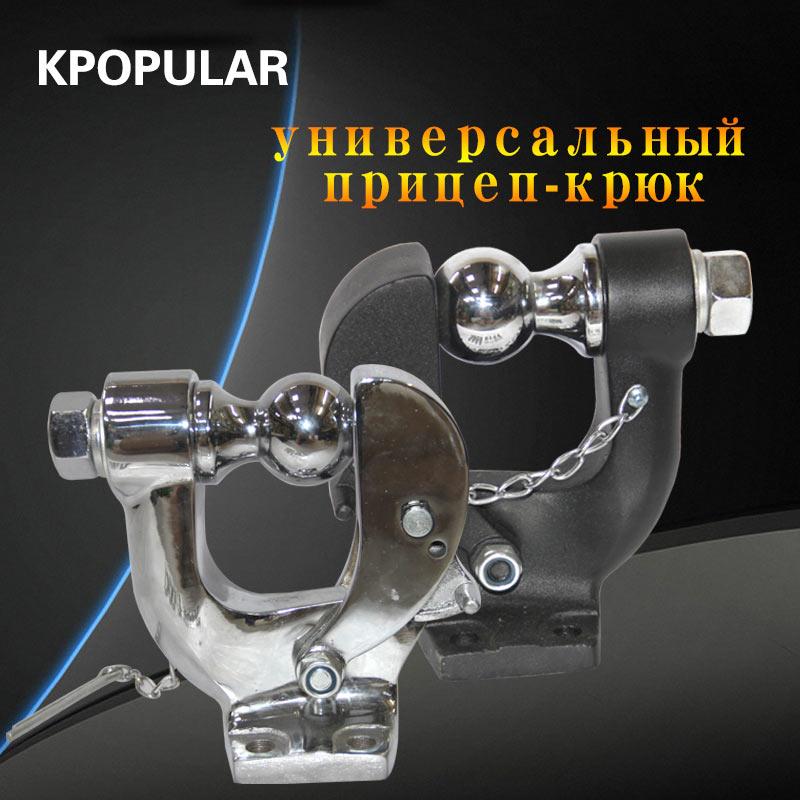 Crochet de remorque universel de 10 tonnes utilisé pour la fixation de crochet de suv remorqués vélos d'occasion towe attelage de remorquage dans le pare-chocs arrière sous 4 boulons