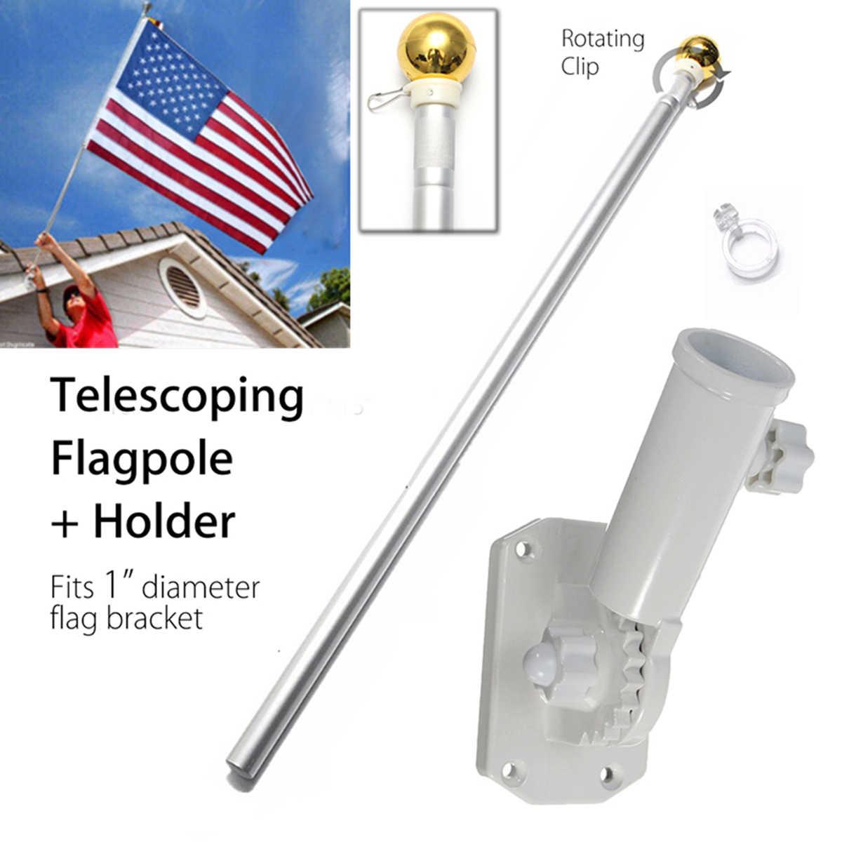Aluminium Flag Pole Kit with Bracket Spinning Rotating Flagpole with Holder Professional Outdoor Spinning Flagpole Kit 1 Set