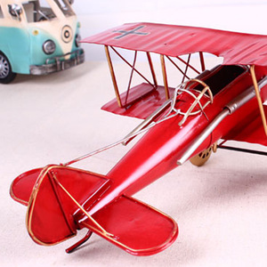Image 5 - Vintage Metal Plane Home Ornaments Aircraft Model Toys For Children Airplane Miniature Models Retro Creative Home Decor