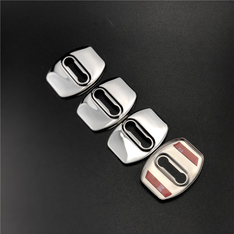 4pcs Black ABS Auto Door Lock Buckle Cover Guard Protector For Chevrolet sail