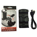 Двойная Зарядка для Док-Станции Стенд Зарядное Устройство для Sony PS3 Playstation 3 Move Контроллер Джойстик Зарядное Устройство