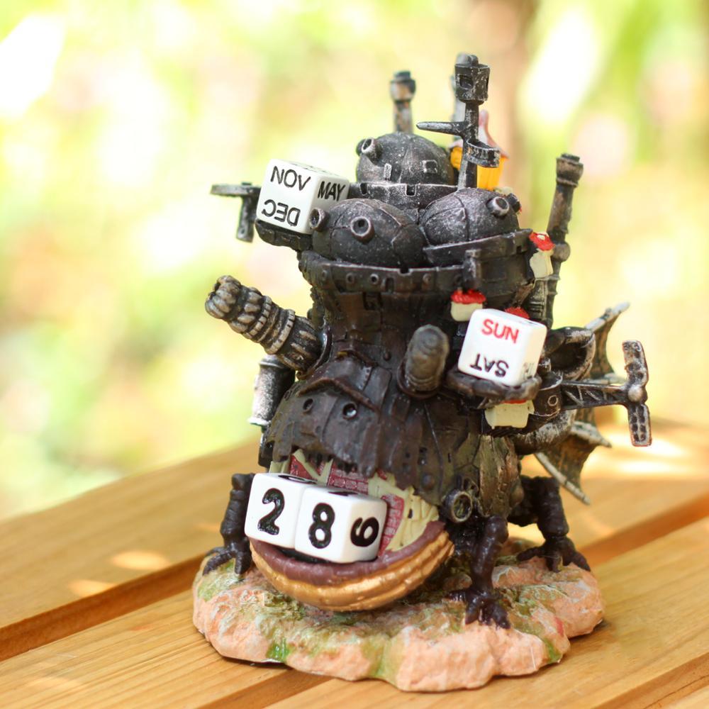 Ghibli Howl's Moving Castle Calendar PVC Action Toy Figure Castle Doll