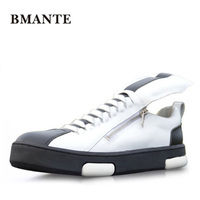 New Men Genuine Leather Shoes Summer Male Adult Shoes Casual Lace up Business Flats Spring Black Shoes Luxury Trainers sneakers
