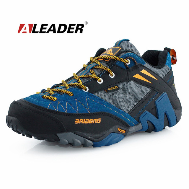 US $89.98 |Waterproof Men's Genuine Leather Hiking Shoes New 2016 Sport Shoes Men Trail Outdoor Walking Shoes Climbing sapatos masculinos in Hiking
