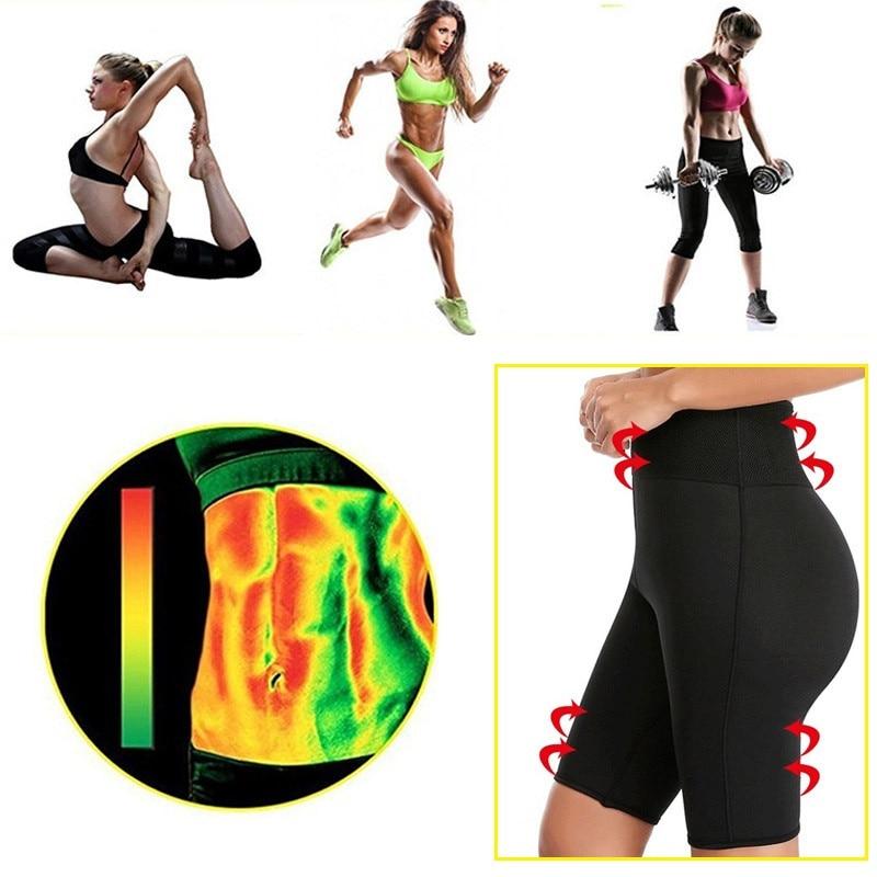 NINGMI Hot Pants Women Butt Lifter Control Panties Body Shaper Waist Trainer Sweat Sauna Neoprene Short Legging Slim Pant Capris