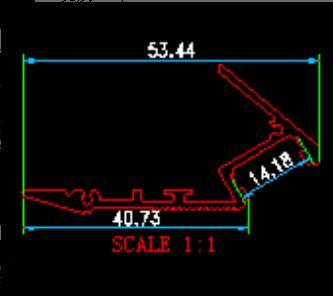 Бесплатная доставка 2000 мм x 53 мм x 30 мм алюминий Светодиодные ленты свет профиль лестницы Корпус под шкаф с опалом и снимите крышку объектива