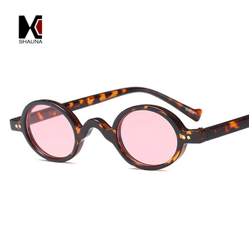 181c465ac65db SHAUNA Clássico Decoração de Unhas Mulheres Pequeno Oval Óculos De Sol  Retro Homens Leopardo Quadro Limpar Óculos de Lente Azul UV400 em Óculos de  sol de ...