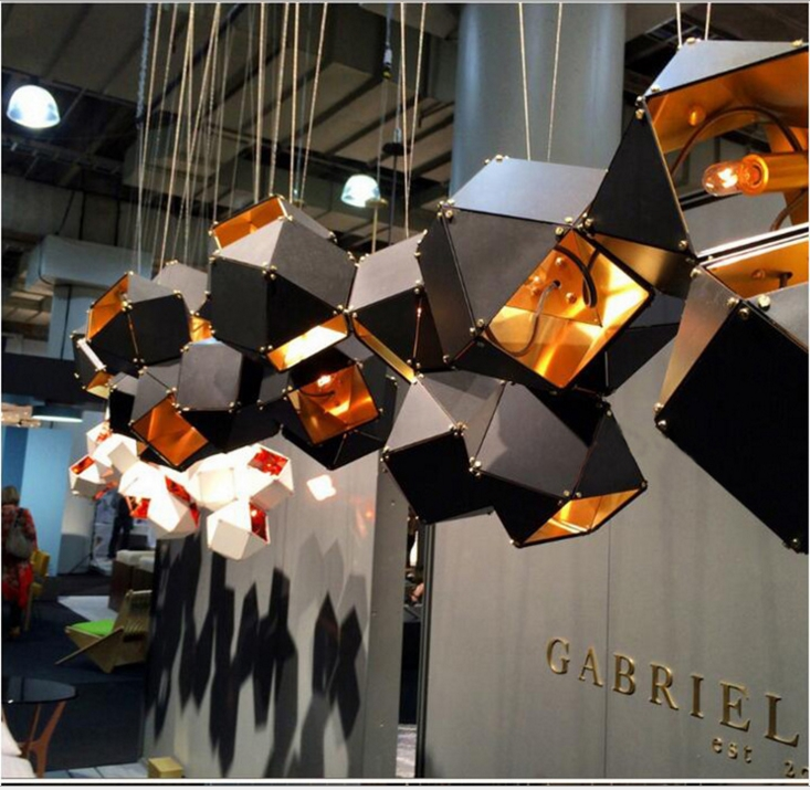Modern creative non - standard project custom restaurant chandelier personality cafe bar diamond - shaped chandelierModern creative non - standard project custom restaurant chandelier personality cafe bar diamond - shaped chandelier