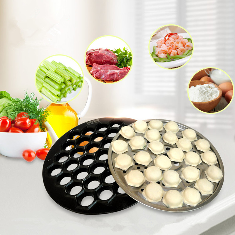 Dumpling mold 37 holes kitchen pastry tool DIY aluminum alloy maker dough press dumplings ravioli bakeware essential tools french pastry murder