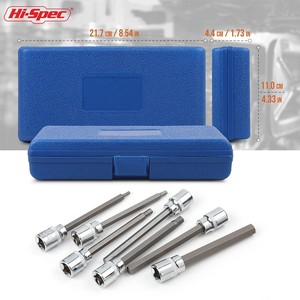 Image 5 - Hi Spec 7pc 3/8 Extra Long Socket Set 110mm Socket Adatper for Torque Socket Wrench Hex Allen Key Screwdriver Bit Set 3 10mm