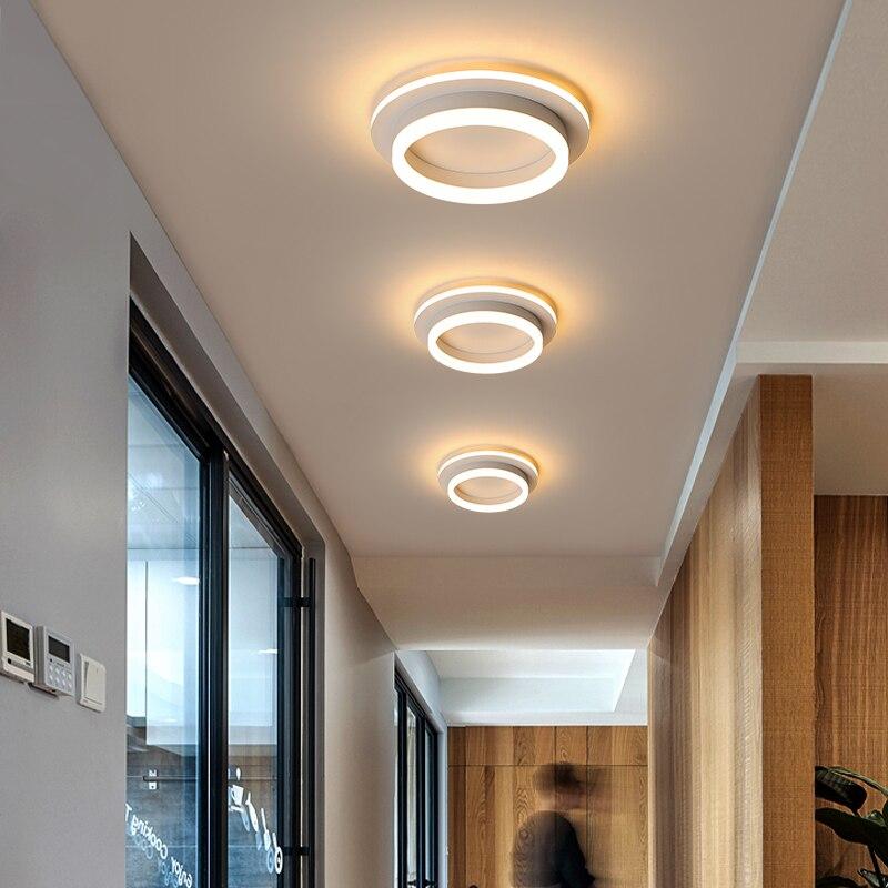 Современные светодиодный Потолочные светильники для прихожей веранда балкон Спальня Гостиная поверхностного монтажа квадратные/круглый ...