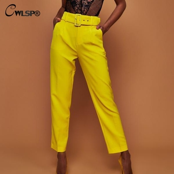 Office Lady Ankle Length Trouser