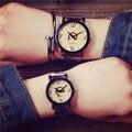Bgg Creativo Reloj de Las Mujeres de Los Hombres Relojes 2016 Simple Diamante Dial Completa de Acero Inoxidable reloj del Amante del Reloj de Cuarzo Reloj de pulsera de Moda Reloj