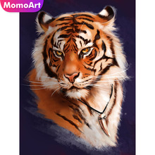 MomoArt Diamond Embroidery Animal Full Drill Painting Square Rhinestone Mosaic Tiger Cross Stitch