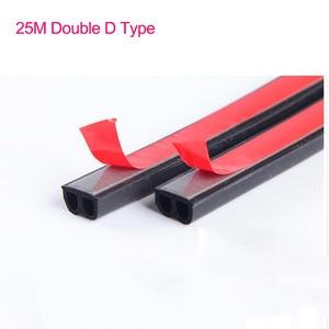 Image 2 - כפול D סוג גומי חותם 25M עמיד למים רעש בידוד רכב דלת גומי חותם אנטי אבק איטום רצועות רכב סטיילינג דלת חותם