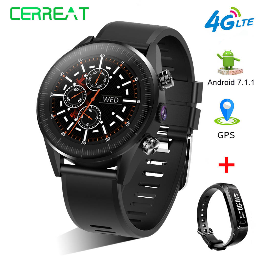 Cerreat KC05 LTE 4G Smart Watch Android 7 1 1 1GB 16GB 5MP camera GPS Nano