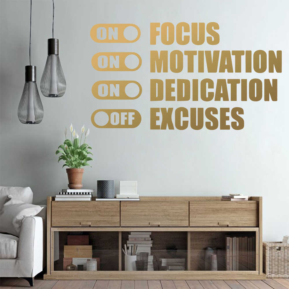 Modern Lighting Quotes Modern Phrase On Off Quotes Vinyl Wall Stickers Decor For Bedroom Living Room For Office Decoration Decal Mural Wallpaper