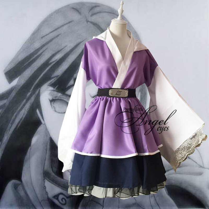 Anime NARUTO hyûga Hinata Cosplay Lolita kimono jupe Halloween costume de fête