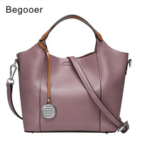 Genuine Leather Bag Women Leather Bag Shoulder Bags Brand Elegant Handbags Ladies Casual Totes Dropshipping New 2018 Hot Selling