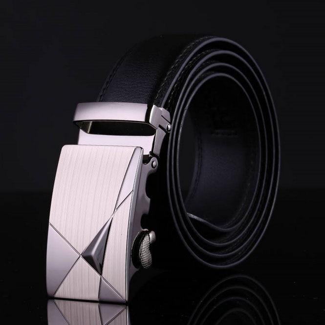 hot europen Classic fashion Mens genuine leather cowhide belt luxury gentleman Business belt classical black jeans belt for men