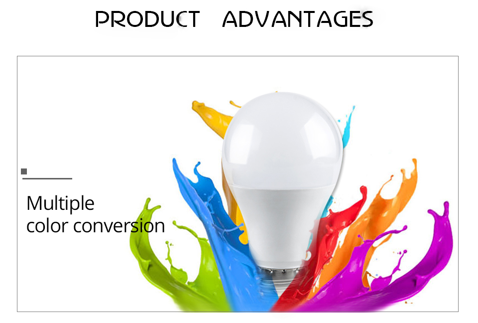 85-265V E27 LED Lamp RGB 15W Bluetooth APP Wifi Control Smart Bulb 10W RGBW RGBWW Light Bulb IR Remote Control Home Lighting (28)