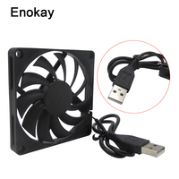 Wholesale 6 Pieces 80MM 5V USB 80x80x15mm 8cm 8015 Brushless DC Cooling Cooler PC CPU Computer Case Fan