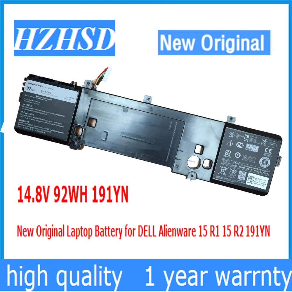 14.8V 92WH 191YN New Original Laptop Battery for DELL Alienware 15 R1 15 R2 191YN футболка print bar watch dogs 2
