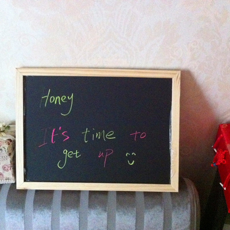 30*40cm Chalkboard Wooden Blackboard  Wood Frame Chalk Board Dry Erase Magnetic Black Board Office Supplier Free Shipping 5
