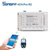 SONOFF 4CH Pro R2 10A 2200W 433MHz RF Inching Self Locking Interlock Smart Home WIFI Wireless
