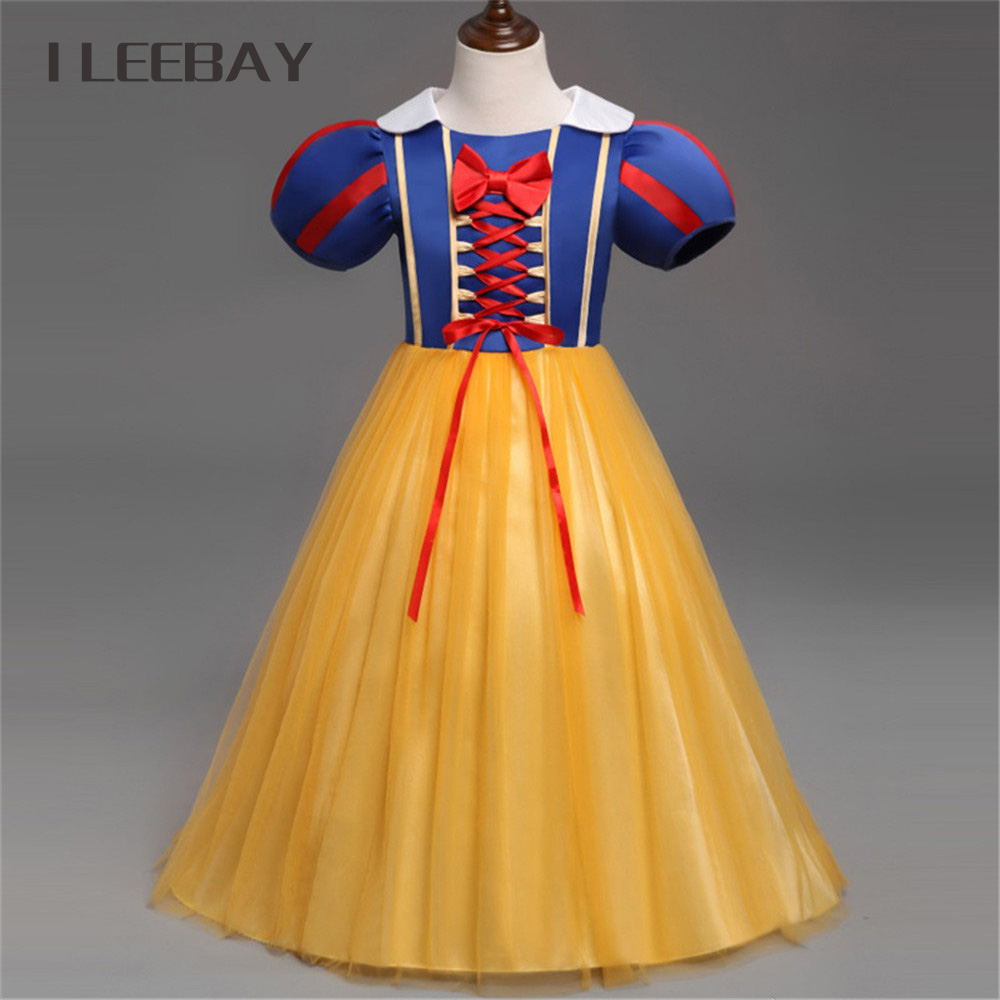 Halloween Girls Cosplay Snow White Dress Baby Girl Clothes Christmas Kids Party Birthday Princess Dress Toddler Evening Costume