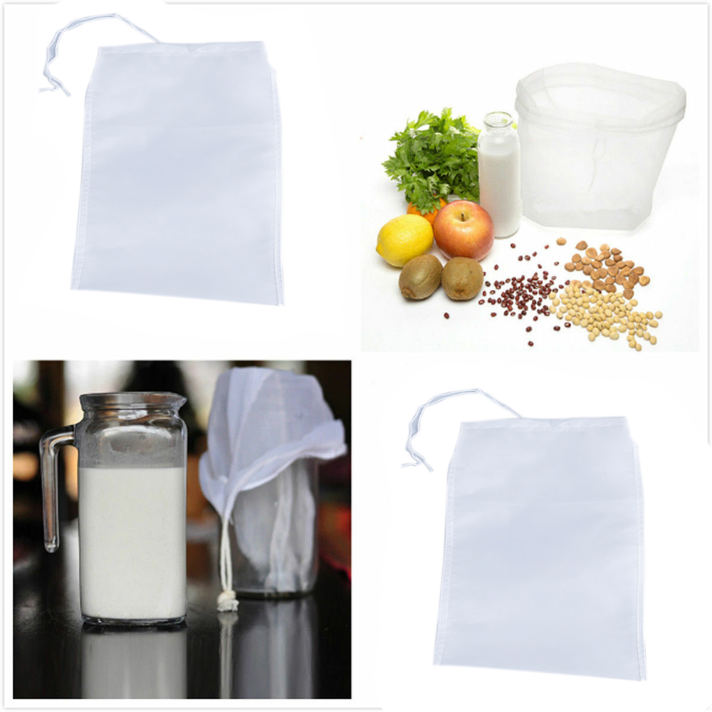 Useful Reusable Strainer Bag Milk Tea Coffee Juices Filter Mesh Cloth For Kitchen Dining Bar Supplies 20*30 cm