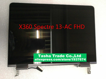 For HP X360 Spectre 13-AC LCD Screen Assembly FHD Webcam Silver Gray Tested IPS matrix Complete Display