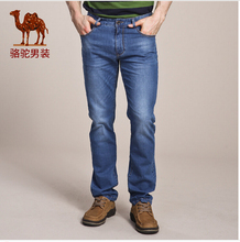 Camel Men s jeans 2016 summer new micro bomb Slim youth fashion jeans male feet long