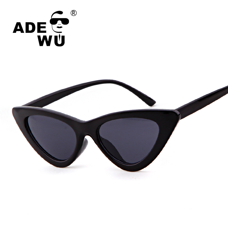 ADE WU High Quality Women Sunglasses Cat Eye Brand Designer Vintage Coating Mirror Sexy  ...
