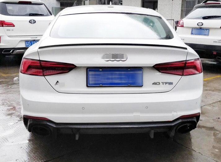 Tronco Boot Spoiler Lip Ala Fit Per Audi A5 Originale per S5 spoiler ABS Sportback 4 Porte 2017 2019 non verniciato e vernice di colore-in Spoiler e alettoni da Automobili e motocicli su Automobile Refitting Factory Store