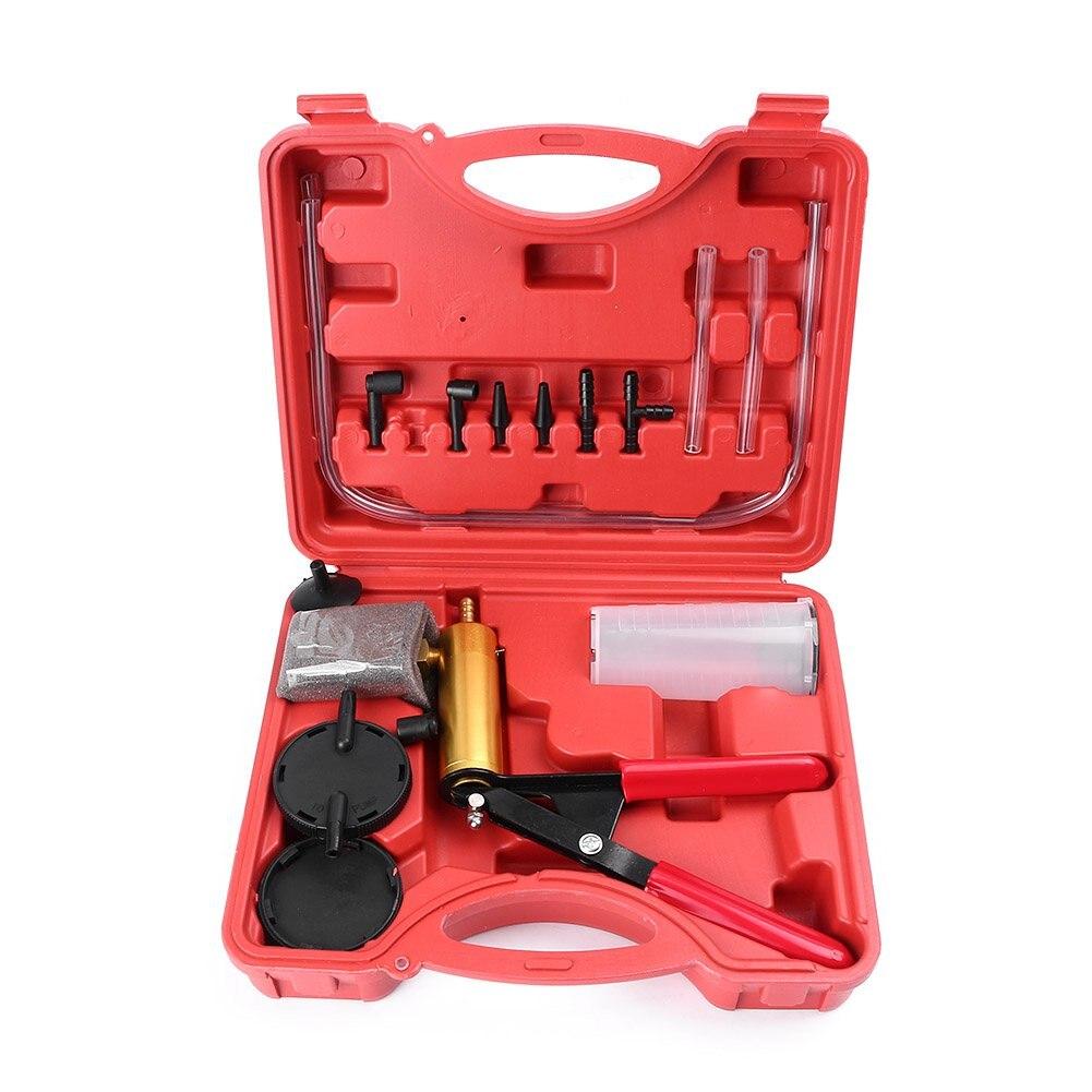 Hand Held Vacuum Pressure Pump Tester Tool Durable Brake Fluid Bleeder Bleeding Kit For Car Motorbike Moped Motor Bike