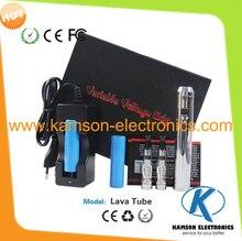 3.0โวลต์- 6.0โวลต์แรงดันไฟฟ้าตัวแปรบุหรี่อิเล็กทรอนิกส์หลอดลาวาร้อนขายจัดส่งฟรี