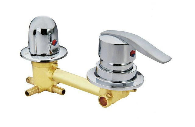 цена на Copper shower room mixer faucet cold and hot water switch valve, Customized 2/3/4/5 Gear shower room mixing connecting valve