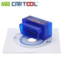 Mr cartool bluetooth auto obd 2 ii odb software geral mini carro obd2 elm327 eml v1.5 v2.1 pode barrar android torque pc