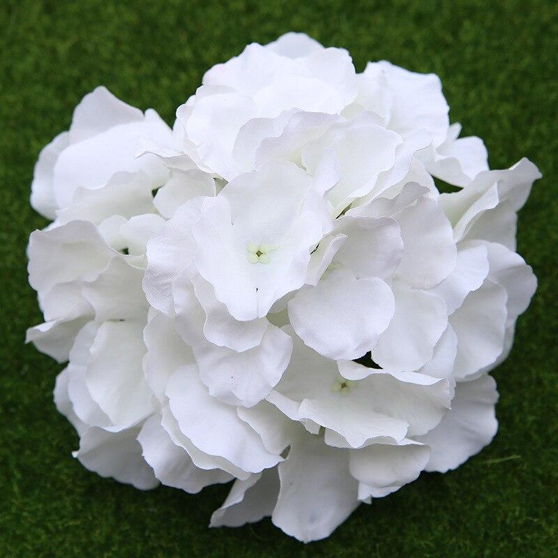 100pcs Artificial 17cm Hydrangea Flower Heads Plastics Flower Hydrangea Head for Wedding Party Centerpieces Floral Decoration