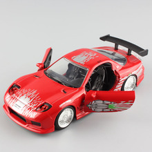 1/32 Scale hot Mini Jada Fast & Furious Mazda RX7 RX-7 1993 automobile coupe die cast cars model auto toys for adults collection