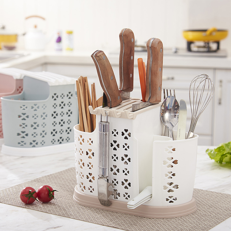 Chopstick Barrel Chopstick Cage Multi-purpose Kitchen Shelf Lek Knife Rack Chopsticks Cage Spoon Knife Fork Storage Rack LU4186