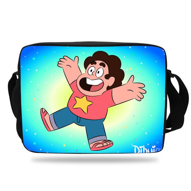 e1bdcecf3756 2017 Cartoon Steven Universe Shoulder Bag children cross body Messenger Bags  For School Girls Boys Teenagers