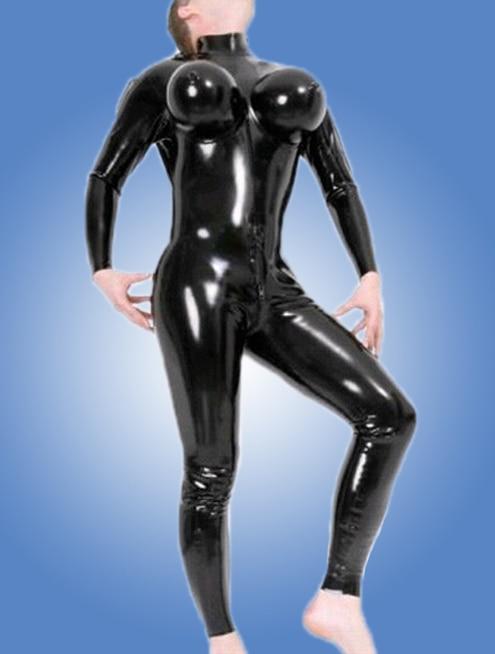 все цены на 2017 custom made latex inflatable breast catsuit latex men bodysuit with back zipper under crotch онлайн